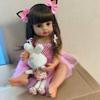22inch 55cm Full Body Silicone Vinyl Reborn Girl Newborn Toddler Baby Doll Gift