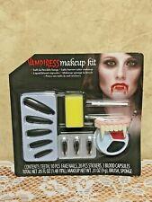 Vampiress Make-Up Kit, Nails~Fangs~Blood Capsules~Brush - Horror Make-Up New
