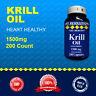 Krill Oil 200 Capsules Max-1500 MG Omega-3 Fatty Acids-EPA-DHA -Astaxanthin