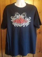 Quiksilver Skull Roses Lowrider Art T-Shirt size XL 100% Cotton