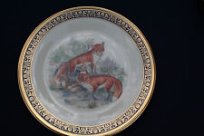 "Lenox ""Woodland Wildlife"" Red Foxes by Boehm 10 1/2"" Plate"