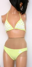 Juicy Couture Bikini  Halter Applications Flowers & Rhinestones Lime Size Small