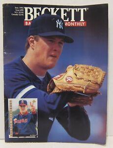 BECKETT BASEBALL MONTHLY - JUNE 1993 - JIM ABBOTT YANKEES COVER