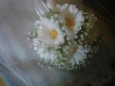 Silk gerbera & gyp Bridal Wedding Flowers in  white