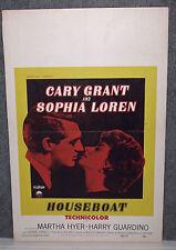 HOUSEBOAT original 1958 movie poster CARY GRANT/SOPHIA LOREN