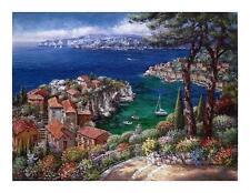 "Sam Park ""Cote D'Azur"" Limited Edition Hand Signed Embellished Giclee 30x40"
