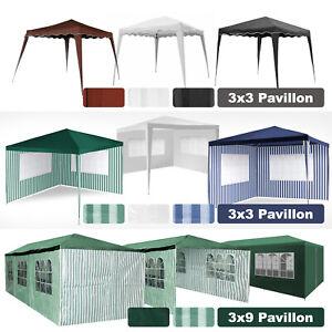 Pavillon Gartenzelt 3x3m,3x3 Falt 3x9m Partyzelt Pavillion mit Seiten Bierzelt