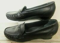 SAS Easier Women Shoes Leather Heels Black 9.5 S Narrow Wore Once