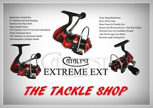 Catalyst Extreme 9+1 Ball Bearing Ultra Smooth, Ultra Strong Spinning Reels
