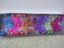 "Wholesale lot 12 Assorted 4"" Butterflies w/ Wire for Crafts Weddings Florals F/S"