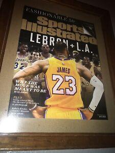 🔥FRAMED🐐July 16 2018 Odell Beckham Jr. LeBron James Lakers Sports Illustrated