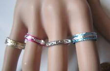Lote 4 anillos aluminio colores nº 8 ó 17 mm diámetro medio bisutería r-19
