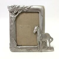 Seagull Pewter Horse Tree Nature Picture Frame Etain Zinn Canada PF3046