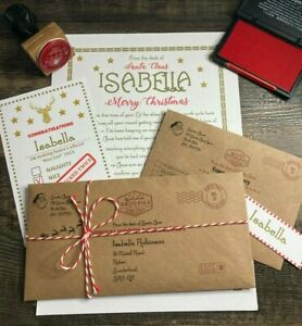 Personalised Letter From Santa Father Christmas Nice List Certificate (Gold)