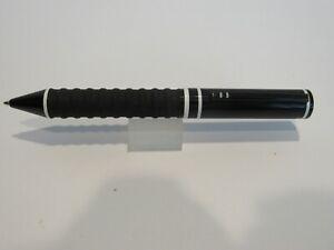 TERZETTI WHITE RING HORNET LARGE HEAVY METAL BALLPOINT PEN W/ RIBBER GRIP+BOX