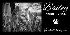 Personalized Pet Stone Memorial Grave Marker Granite Human Cat Dog 2017