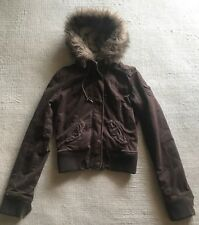 Abercrombie & Fitch Hoodie ULTRA SOFT FUR LINED Jacket Coat Womens M #G5