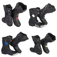Xtron Vollleder Motorrad Adventure Lang Motorrad Fuß Schutz- Stiefel Schuhe