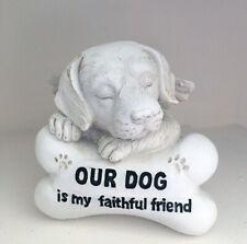1pc Dog Pet Memorial Statue Headstone Inspirational Words