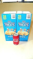 2 Boxes Original Large Rice Krispies Treats Crispy Marshmallow snack 1.3 oz 50ct