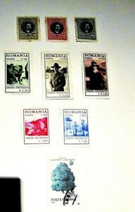ROMANIA - 1931-1980's, Lot of (9) Mostly UNUSED, Some Hinged