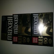 New listing New Sealed Set of 2 Maxell Audio Cassette Tapes, Xlii-S, Black Magnetite, 90 Min