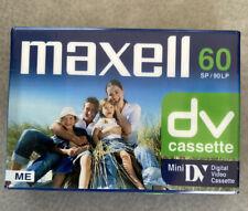 BN -MAXELL 60DV CASSETTE - MINI DIGITAL VIDEO CASSETTE - NEW & SEALED