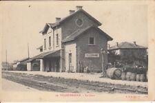 Carte postale ancienne VILLEURBANNE 79 LA GARE timbrée 1907