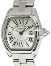 Cartier Roadster Stainless Steel Silver Dial Ladies Quartz Watch 2675