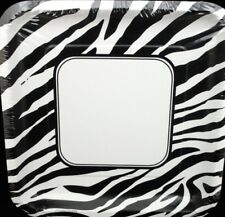 """Animal Print Zebra Party Supplies 9"""" Lunch Plates 8ct."""