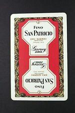 1 x Joker playing card Drink Fino San Patricio Dry Sherry AB226
