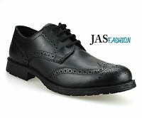 New Mens Real Leather Casual Formal Office Work Lace Up Oxford Brogue Shoes Size