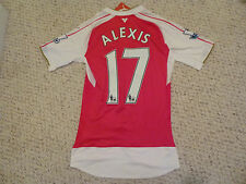 NWT Puma 2015/2016 Arsenal #17 Alexis Sánchez Authentic Red Home Jersey (Large)