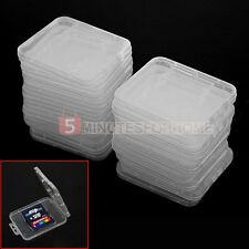20 Custodia Case Porta SD SDHC Schede Memoria Trasparente per Fotocamera Camera