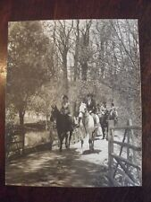 WENDELL MaCRAE - 1930's PRINT / PHOTO - HORSE & RIDERS ON TRAIL - CENTRAL PARK?