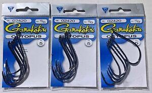 3 PACKS Gamakatsu Octopus 02420 Size 10/0   15 Hooks Total