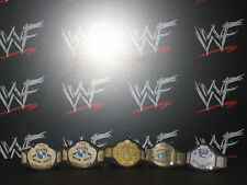 5 x Custom WCW WWF WWE Title Belts For Galoob Hasbro Mattel Wrestling Figure ECW