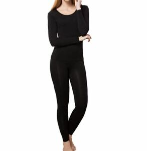HEROBIKER Women's Ultra Soft Thermal Underwear Long Johns Set Base Layer Large