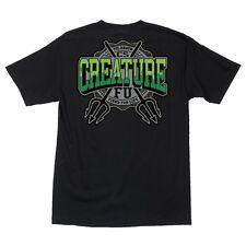 Creature Flunkee Pocket Skateboard T Shirt Black Xxl