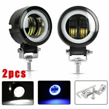 2x Round LED Driving Work Spot Light Car Motorcycle Off-Road Fog Lamp Headlights