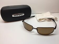 NEW Revo RE8002-02 Efflux Titanium Polarized Sunglasses Bronze Lens W/Case