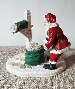 RETIRED Luville Originals. 2011 Schneewald Figurines, Santa's Mailbox. #608252