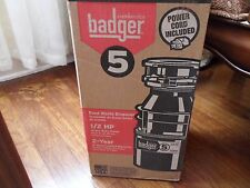 InSinkErator Badger 5 Food Waste Disposal 1/2 HP with Power Cord Brand New
