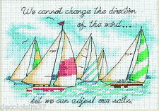 Dimensions 6856 Adjusting our Sails Embroidery Kit Counted