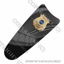 Intercom CB Dash Skin For Harley Touring 03-07 -  GOLD POLICE BADGE - 070