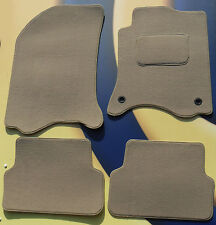 RENAULT SCENIC 2009 on QUALITY BEIGE CARPET CAR MATS + 2 CLIPS SET OF 4