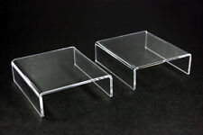 """6x Clear Acrylic Riser Stand counter jewelry display 4""""L x 1-3/16""""H x 3-1/2""""D"""