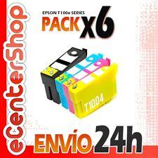 6 Cartuchos T1001 T1002 T1003 T1004 NON-OEM Epson Stylus SX600FW 24H