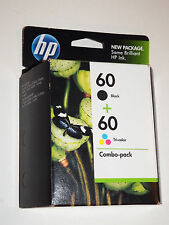 HP 60 Black Tri-Color Combo Pack ink Cartridge Exp Oct 2011 New