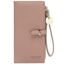 Women Lady Leather Long Wallet Money Card Purse Holder Organiser Zipper Handbag
